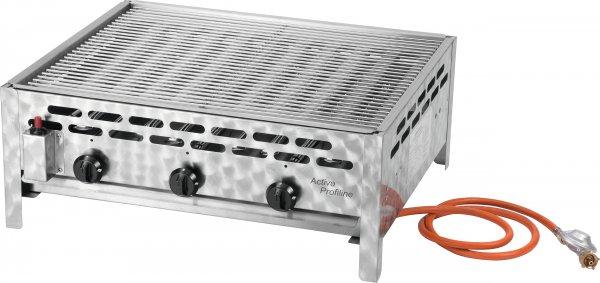ACTIVA 3-flammiger Gastrobräter mit Grillrost