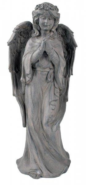 ACTIVA Engel Gartenfigur Dekofigur Fortuna Schutzengel, 62 cm hoch