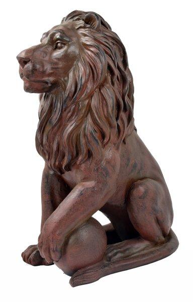 ACTIVA Löwenfigur, Gartendeko Dekofigur Löwe, 60 cm hoch