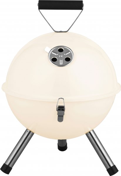 ACTIVA Kugelgrill Tischgrill Mallorca, Creme, Holzkohlegrill