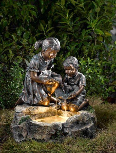 ACTIVA Brunnen Wasserspiel Kinderglück Gartendeko Indoor Outdoor Brunnen