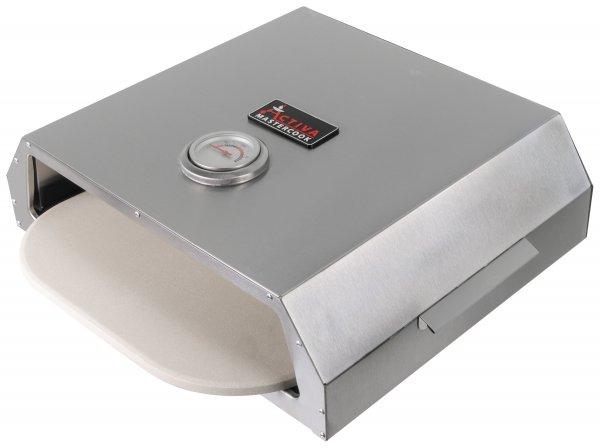 ACTIVA Pizza Box, Edelstahl Pizzaaufsatz ca. 44,5 x 13 x 35,5 cm, BBQ-Pizzaofen mit Temperaturanzeig