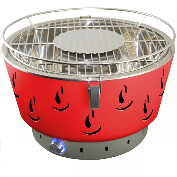 ACTIVA Grill Tischgrill AIRBROIL JUNIOR Rot, Holzkohlegrill